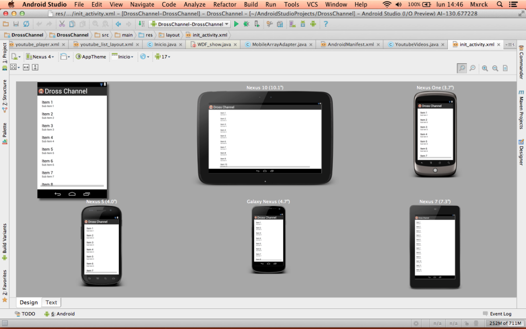 Android Studio Preview Resoluciones