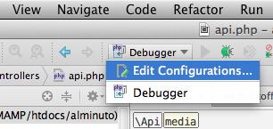 Configuraciones de depuración PHPStorm