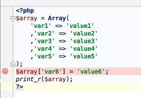PHP breakpoint