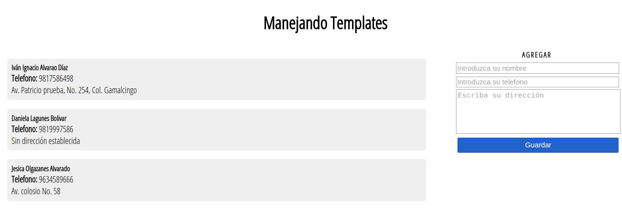 Manejo de templates con Html 5 y Javascript | Ser Programador.es